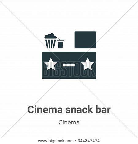 Cinema snack bar icon isolated on white background from cinema collection. Cinema snack bar icon tre