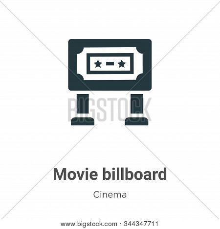 Movie billboard icon isolated on white background from cinema collection. Movie billboard icon trend
