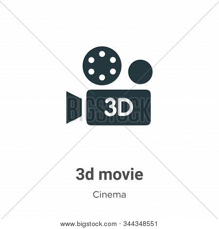 3d movie icon isolated on white background from cinema collection. 3d movie icon trendy and modern 3