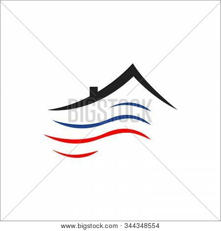 Heating And Cooling Hvac Logo Design Vector Business Company