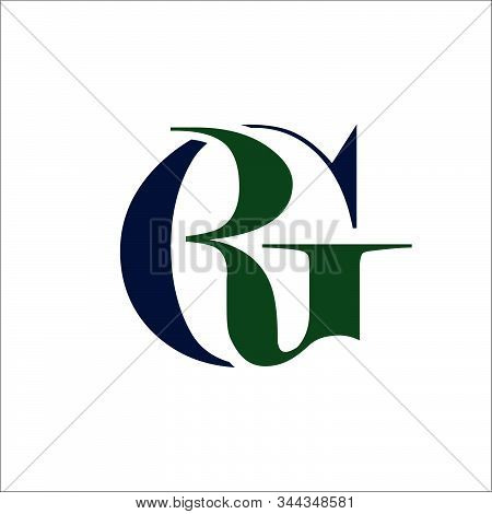 Stylish Initial G R Letter Rg Logo Design In Overlaping Style Vector Graphic Concept