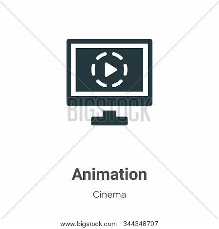 Animation Vector Icon On White Background. Flat Vector Animation Icon Symbol Sign From Modern Cinema