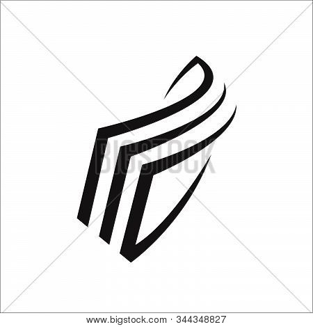 Black Stack Of Paper Icon Vector Logo Stationery Stacked Papers Template