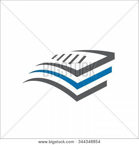 Stack Of Paper Vector Logo Stationery Stacked Papers Icon Template