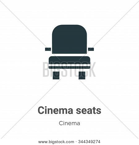 Cinema Seats Vector Icon On White Background. Flat Vector Cinema Seats Icon Symbol Sign From Modern