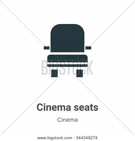 Cinema seats icon isolated on white background from cinema collection. Cinema seats icon trendy and