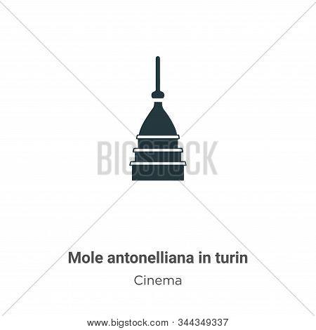 Mole Antonelliana In Turin Vector Icon On White Background. Flat Vector Mole Antonelliana In Turin I