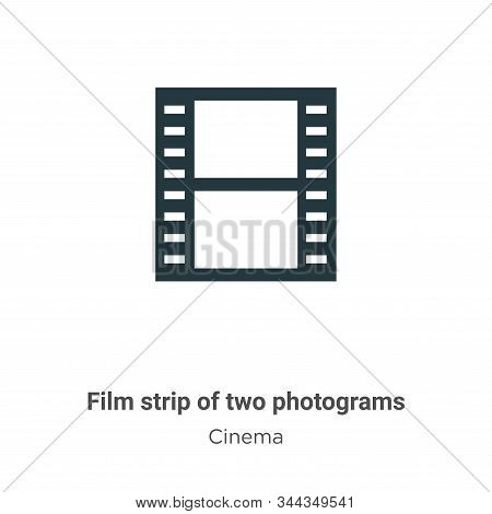 Film strip of two photograms icon isolated on white background from cinema collection. Film strip of