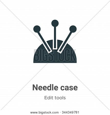 Needle case icon isolated on white background from edit tools collection. Needle case icon trendy an