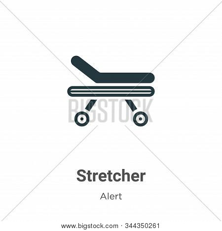 Stretcher icon isolated on white background from alert collection. Stretcher icon trendy and modern