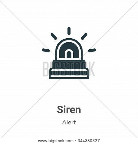 Siren icon isolated on white background from alert collection. Siren icon trendy and modern Siren sy
