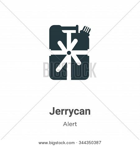 Jerrycan Vector Icon On White Background. Flat Vector Jerrycan Icon Symbol Sign From Modern Alert Co