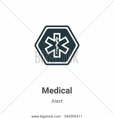 Medical symbol icon isolated on white background from alert collection. Medical symbol icon trendy a