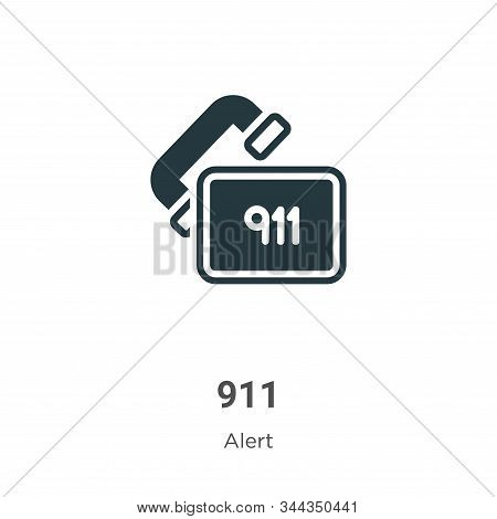 911 icon isolated on white background from alert collection. 911 icon trendy and modern 911 symbol f