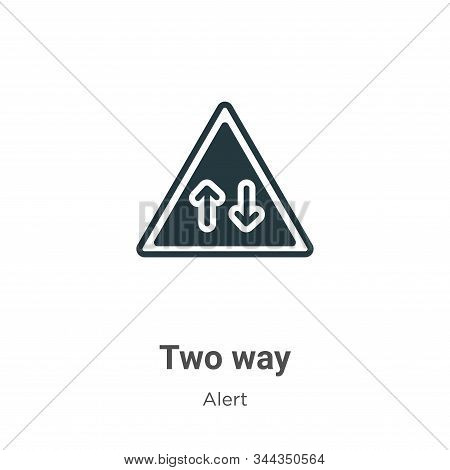 Two way icon isolated on white background from alert collection. Two way icon trendy and modern Two