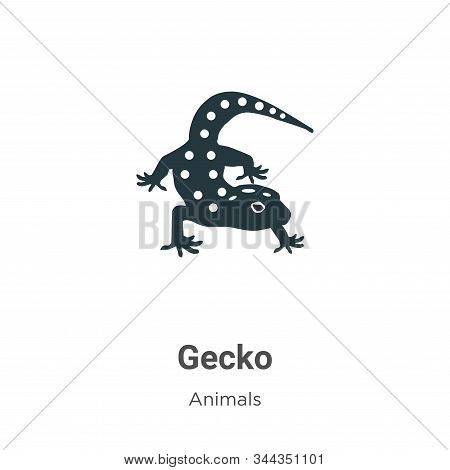 Gecko icon isolated on white background from animals collection. Gecko icon trendy and modern Gecko