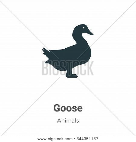 Goose icon isolated on white background from animals collection. Goose icon trendy and modern Goose