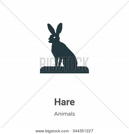 Hare icon isolated on white background from animals collection. Hare icon trendy and modern Hare sym