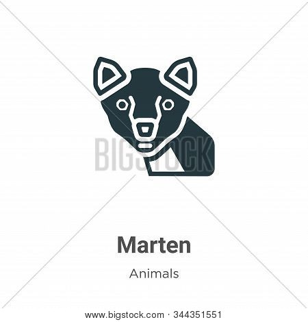 Marten icon isolated on white background from animals collection. Marten icon trendy and modern Mart