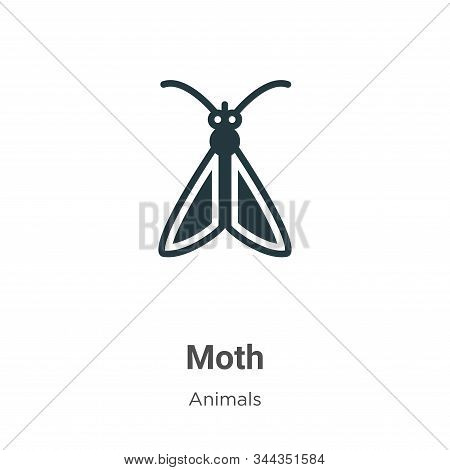 Moth icon isolated on white background from animals collection. Moth icon trendy and modern Moth sym