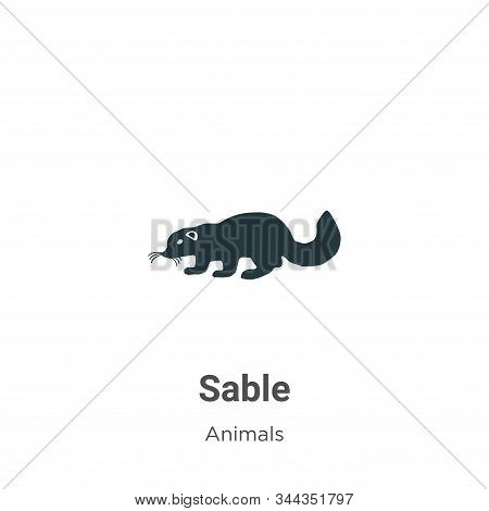 Sable icon isolated on white background from animals collection. Sable icon trendy and modern Sable