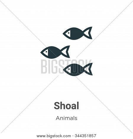 Shoal icon isolated on white background from animals collection. Shoal icon trendy and modern Shoal