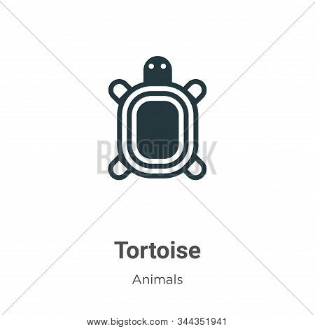 Tortoise icon isolated on white background from animals collection. Tortoise icon trendy and modern