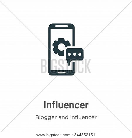 Influencer icon isolated on white background from blogger and influencer collection. Influencer icon
