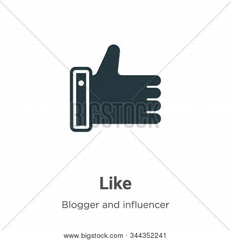 Like icon isolated on white background from blogger and influencer collection. Like icon trendy and