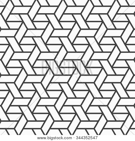 Abstract Geometric Pattern. A Seamless Vector Backgrounds Repeating Basketry Linear
