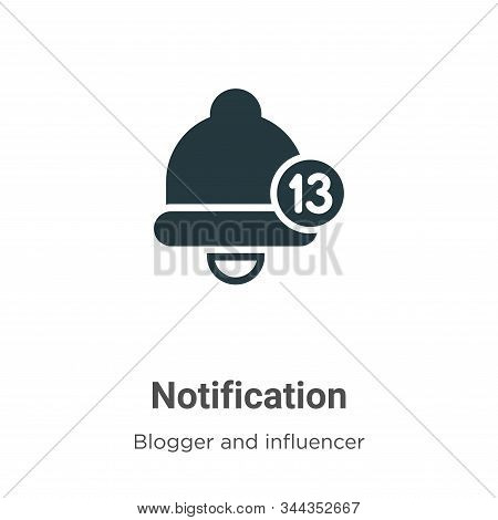 Notification icon isolated on white background from blogger and influencer collection. Notification
