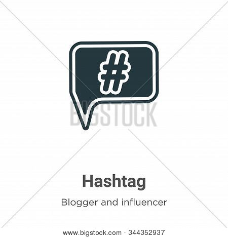 Hashtag icon isolated on white background from blogger and influencer collection. Hashtag icon trend