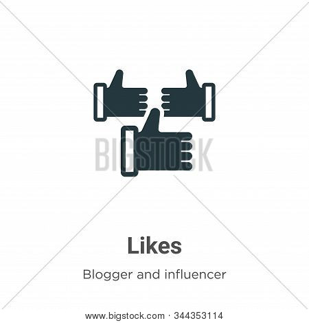 Likes icon isolated on white background from blogger and influencer collection. Likes icon trendy an
