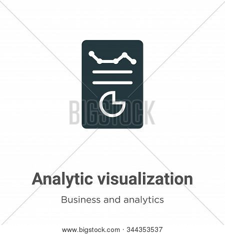 Analytic visualization icon isolated on white background from business and analytics collection. Ana