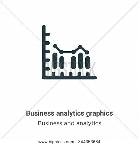 Business analytics graphics vector icon isolated on white background from modern business and analyt