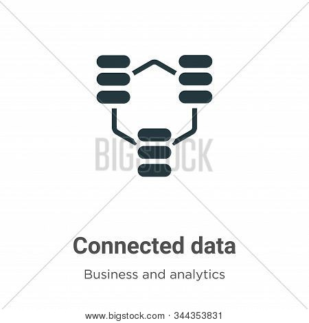 Connected data icon isolated on white background from business and analytics collection. Connected d