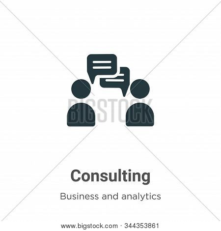 Consulting icon isolated on white background from business and analytics collection. Consulting icon