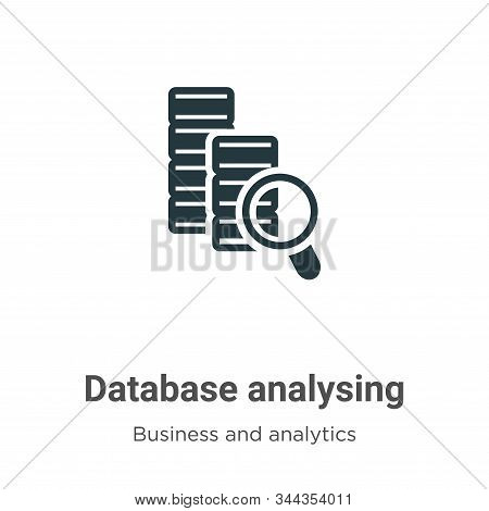 Database Analysing Vector Icon On White Background. Flat Vector Database Analysing Icon Symbol Sign