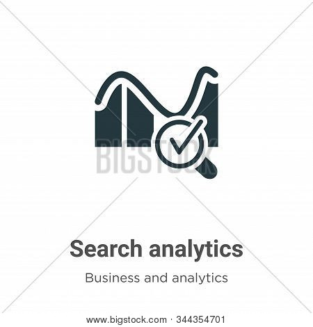 Search analytics icon isolated on white background from business and analytics collection. Search an