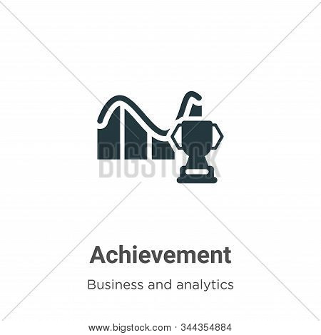 Achievement icon isolated on white background from business collection. Achievement icon trendy and