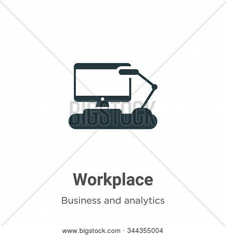 Workplace icon isolated on white background from business collection. Workplace icon trendy and mode