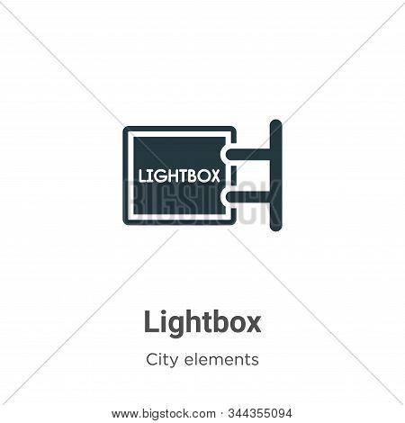 Lightbox icon isolated on white background from city elements collection. Lightbox icon trendy and m