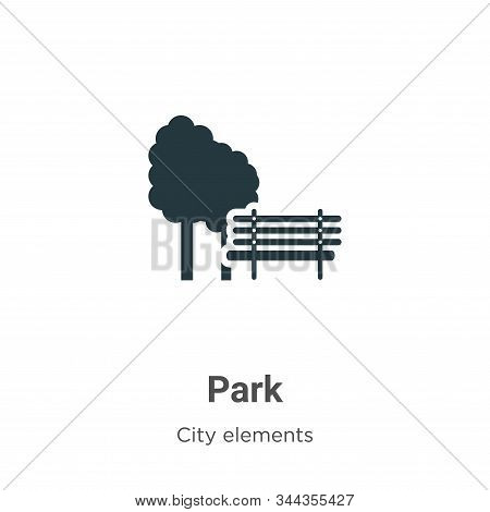 Park icon isolated on white background from city elements collection. Park icon trendy and modern Pa