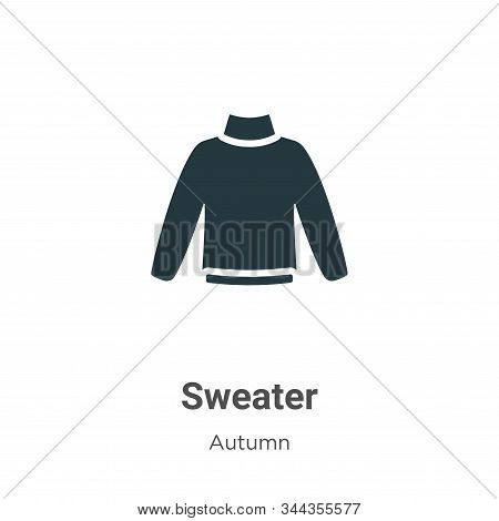 Sweater icon isolated on white background from autumn collection. Sweater icon trendy and modern Swe