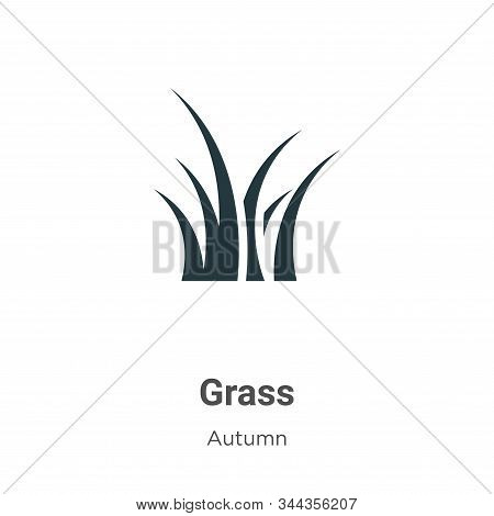 Grass icon isolated on white background from autumn collection. Grass icon trendy and modern Grass s