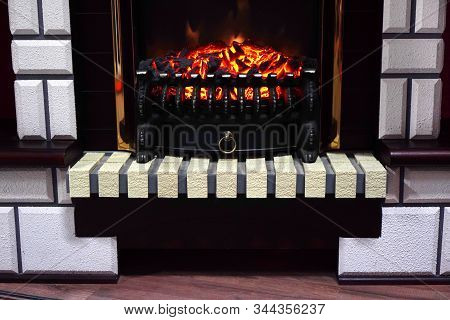 Electric Artificial Fireplace For Cozy Home Interior