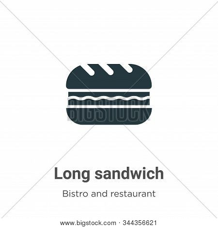 Long sandwich icon isolated on white background from bistro and restaurant collection. Long sandwich