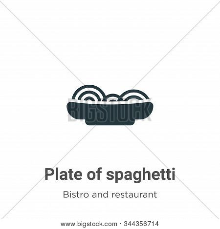 Plate of spaghetti icon isolated on white background from bistro and restaurant collection. Plate of