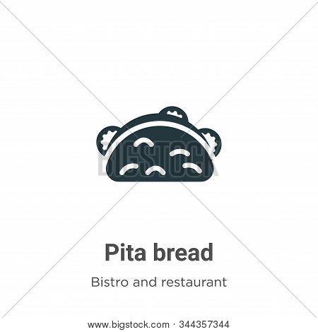 Pita Bread Vector Icon On White Background. Flat Vector Pita Bread Icon Symbol Sign From Modern Bist