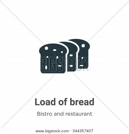 Load of bread icon isolated on white background from bistro and restaurant collection. Load of bread